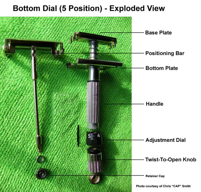 Bottom Dial 5 Position Exploded View