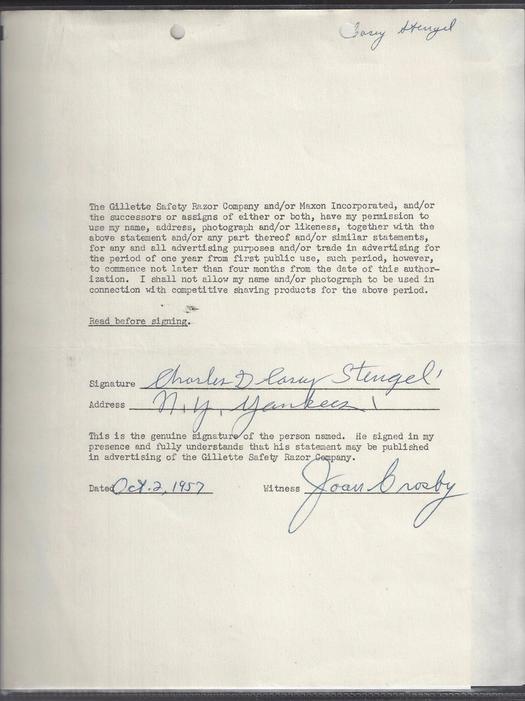 Casey Stengel - October 1957