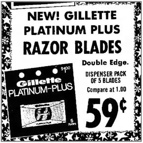 Gillette Platinum-Plus Retail Ad