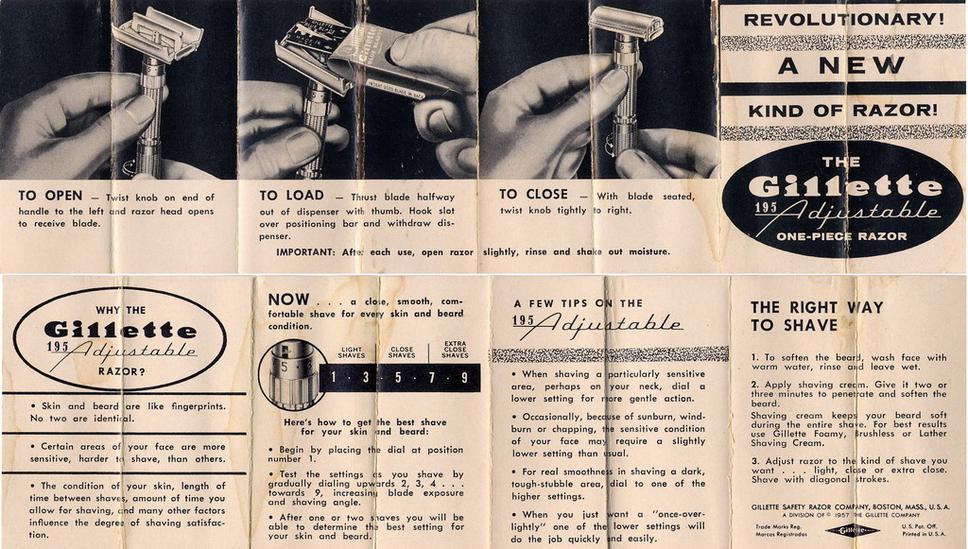 """""""Revolutionary"""" Instructions (1958 D-3 to 1959 E-2) Blue Blades"""