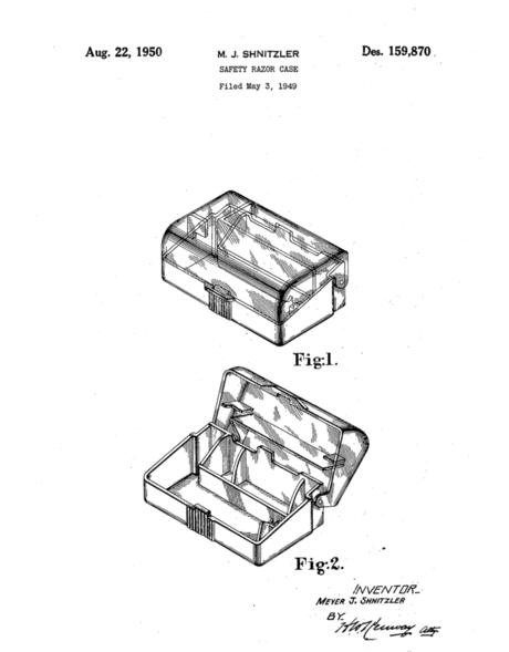 Plastic Razor Case (1949)