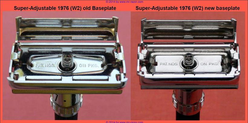 Super Adjustable 1976 W-2 Base Plate Difference