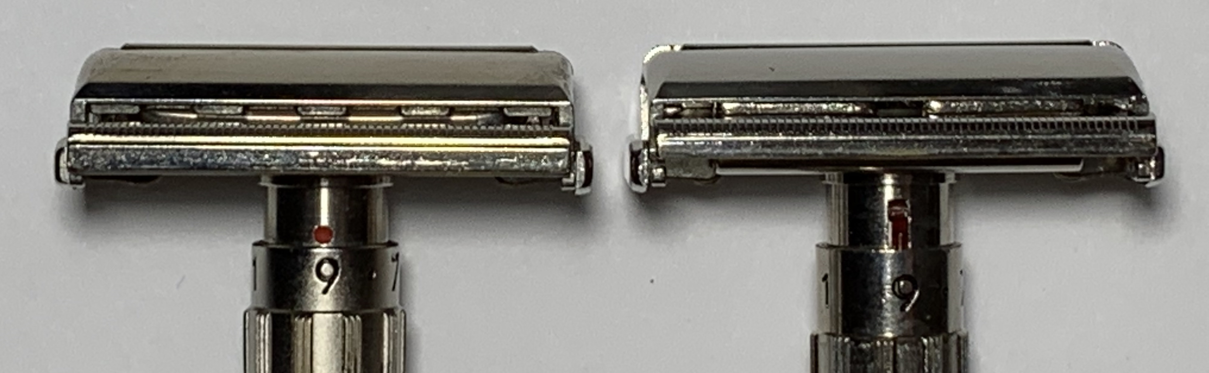 "Red Dot Indicator (left) can be seen with ""teeth"" or tabs"