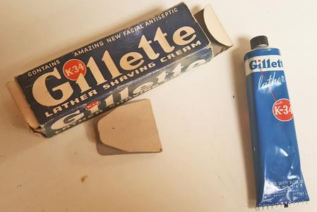 Gillette K-34 Tube Shave Cream (1940s - 50s)