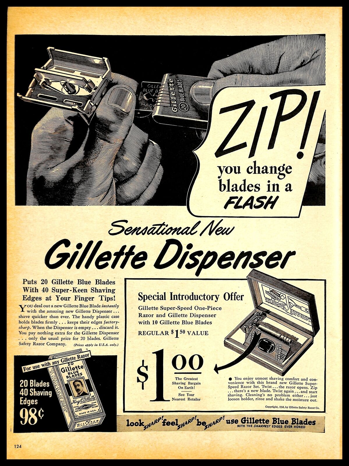 1948 Ad Touting Mr Shnitzler's Invention