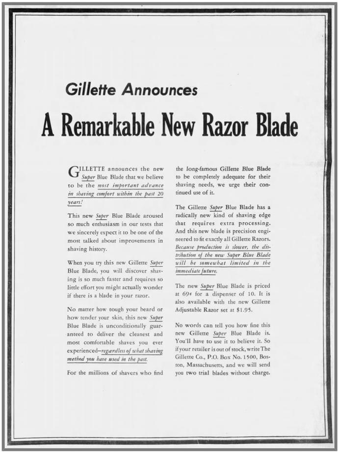Super Blue Blades Announced 1-12-1960 The Pensacola News (P6)