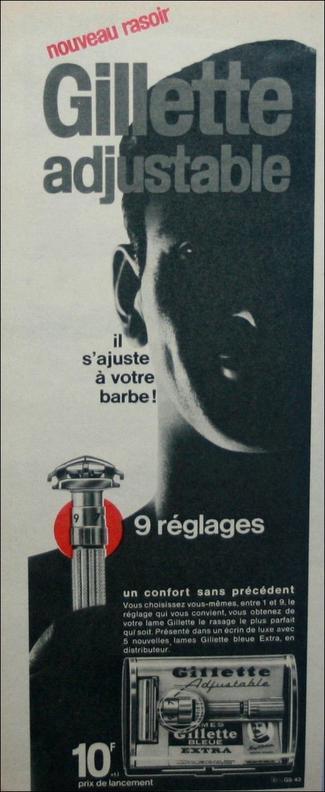 Gillette 195 Adjustable 1960 (France)