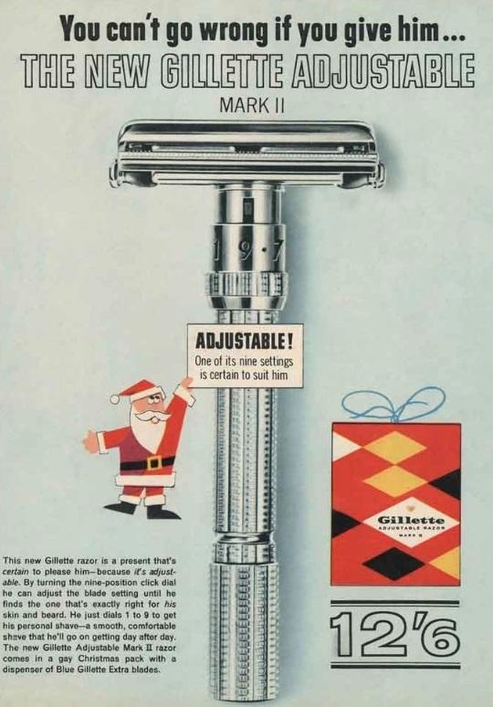A United Kingdom Advertisement for the Gillette Adjustable Mk II